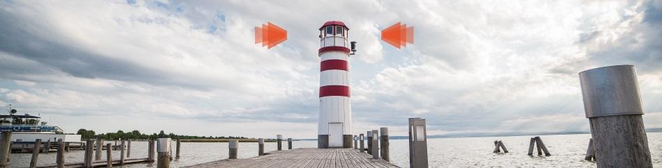 Advisor.Zone - Leuchtturm mit Pier - Logo