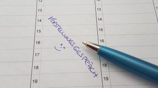 Kalendereintrag zum Vorstellungsgespräch dank Service Excellence