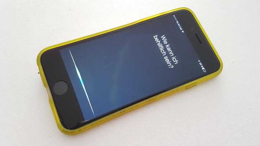 Apple Siri-Wie kann ich behilflich sein?